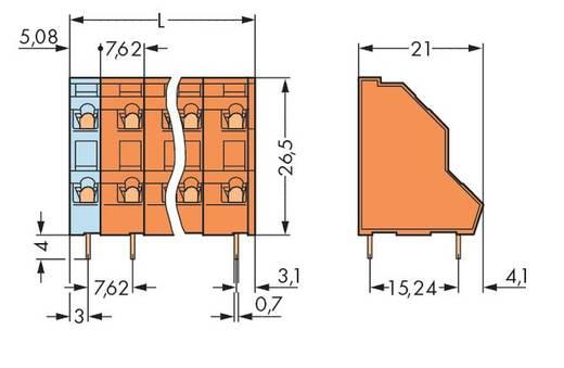 Doppelstockklemme 2.50 mm² Polzahl 32 736-616 WAGO Orange 14 St.