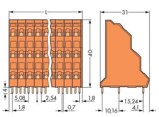 "Dreistockklemme 2.50 mm² Polzahl 24 T. DECK OFF LINE .2"" ORNG WAGO Orange 24 St."