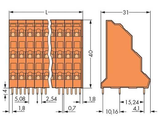 Dreistockklemme 2.50 mm² Polzahl 24 WAGO Orange 24 St.