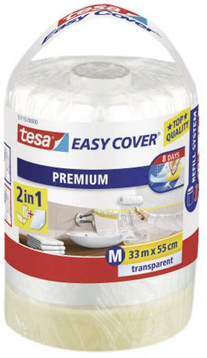 Abdeckfolie TESA tesa Easy Cover® Transparent (L x B) 33 m x 550 mm Inhalt: 1 Rolle(n)