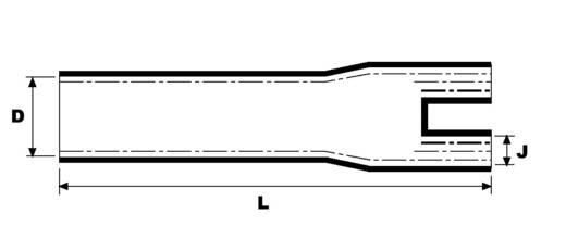 Warmschrumpf-Aufteilkappe zweiadrig Nenn-Innendurchmesser (vor Schrumpfung): 21 mm HellermannTyton 402-16039 1 St.