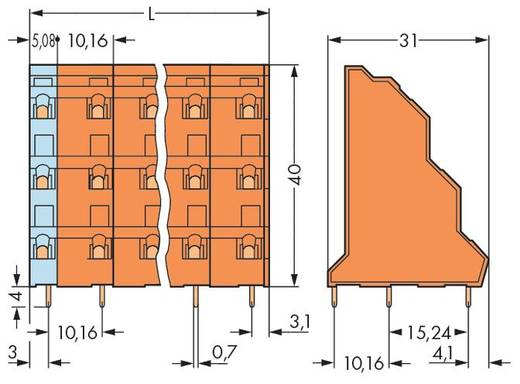 Dreistockklemme 2.50 mm² Polzahl 24 737-808 WAGO Orange 12 St.