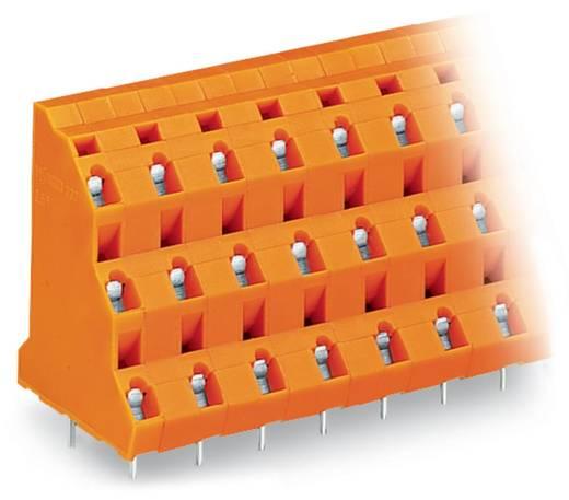 Dreistockklemme 2.50 mm² Polzahl 12 WAGO Orange 28 St.