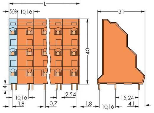 Dreistockklemme 2.50 mm² Polzahl 9 WAGO Orange 40 St.