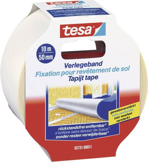Verlegeband TESA Transparent (L x B) 10 m x 50 mm Inhalt: 1 Rolle(n)