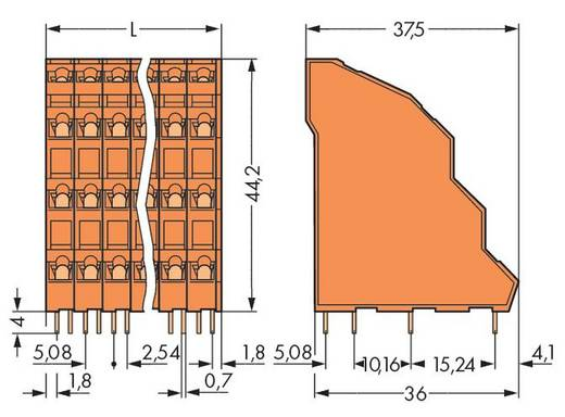 Vierstockklemme 2.50 mm² Polzahl 48 738-412 WAGO Orange 12 St.