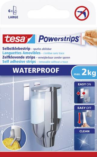 tesa Powerstrips® Waterproof Weiß 59700 tesa Inhalt: 1 Pckg.