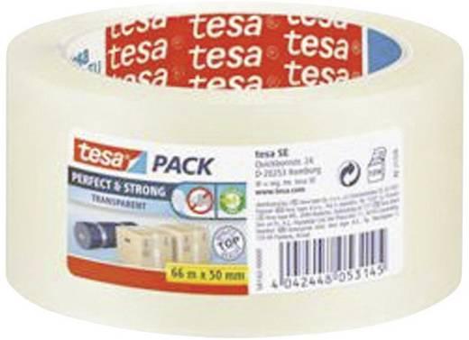 Verpackungsklebeband tesa tesa® Perfect&Strong Transparent (L x B) 66 m x 50 mm Polyacrylatsäureester Inhalt: 1 Rolle(n)