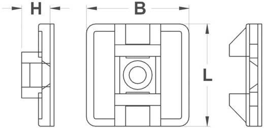 Befestigungssockel 4fach einfädeln Transparent KSS 28530c92 HC26T 1 St.