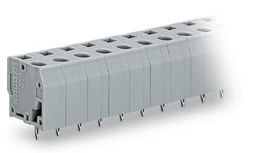 Federkraftklemmblock 2.50 mm² Polzahl 10 739-210/100-000 WAGO Grau 60 St.