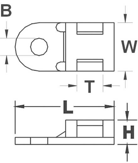 Befestigungssockel schraubbar Weiß KSS 544765 HC0L 1 St.