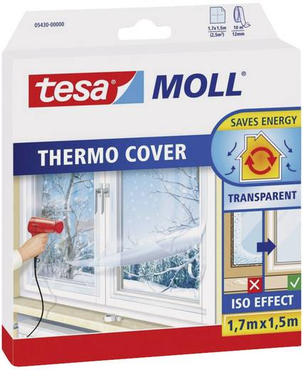 Isolierfolie tesamoll® thermo Cover Transparent (L x B) 1.7 m x 1.5 m tesa 05430-00 1 Rolle(n)