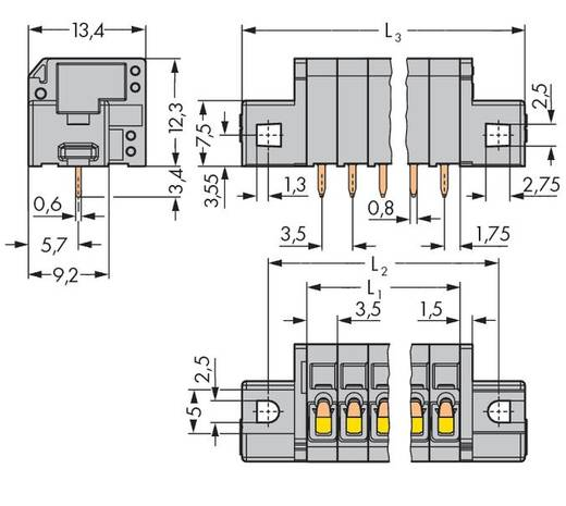Federkraftklemmblock 1.50 mm² Polzahl 6 739-306/001-000 WAGO Grau 120 St.