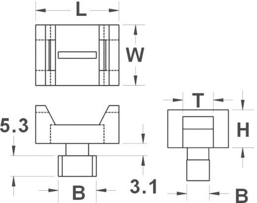 KSS 544886 HC5 Befestigungssockel schraubbar Weiß 1 St.