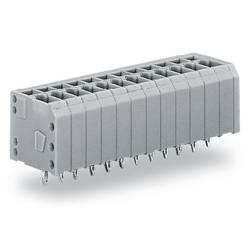 Pružinová svorka WAGO 739-309/100-000, 1.50 mm², Počet pinov 9, sivá, 140 ks