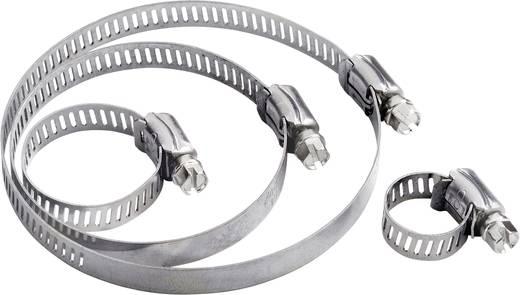 Schlauchschellen Sechskantschraubenkopf mit Schlitz Silber 544928 1 St.