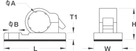 Befestigungsschelle selbstklebend Schwarz KSS 28530c97 10JR-S 1 St.
