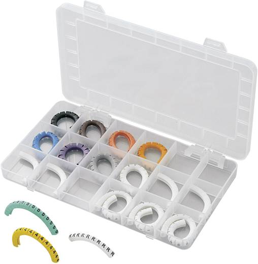 Kennzeichnungsclip Aufdruck 0 - 9, L, N, R, S, T, PE, +, - Außendurchmesser-Bereich 1 bis 3 mm 545001 ECMKS-1 Conrad Com