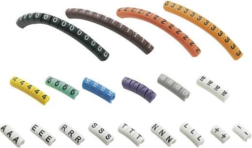 Kennzeichnungsclip Aufdruck 0 - 9, A, E, L, N, R, S, T, -, + Außendurchmesser-Bereich 1 bis 3 mm 545007 ECMKP-1 Conrad C