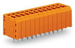 Bornier à ressort WAGO 739-340/100-000 1.50 mm² Nombre total de pôles 10 orange 120 pc(s)