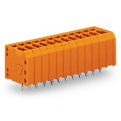 Pružinová svorka WAGO 739-342/100-000, 1.50 mm², Počet pinov 12, oranžová, 100 ks