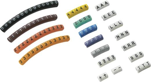 Kennzeichnungsclip Aufdruck 0 - 9, A, E, L, N, R, S, T, -, + Außendurchmesser-Bereich 2 bis 5 mm 545010 ECMKP-2 Conrad C