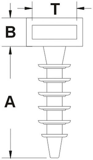Kabelhalter mit Lamellenfuß Schwarz KSS 545015 CHR6 1 St.