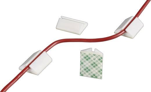 Kabelhalter selbstklebend Weiß Conrad Components 545025 8 St.