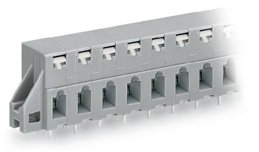 Federkraftklemmblock 2.50 mm² Polzahl 4 741-324 WAGO Grau 100 St.