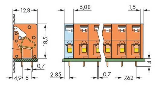 Federkraftklemmblock 2.50 mm² Polzahl 4 741-404 WAGO Orange 160 St.