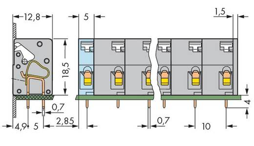 Federkraftklemmblock 2.50 mm² Polzahl 8 741-508 WAGO Grau 60 St.