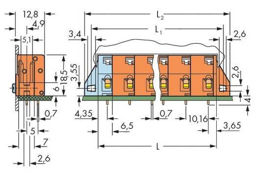 Federkraftklemmblock 2.50 mm² Polzahl 4 WAGO Orange 80 St.