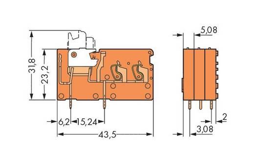 Federkraftklemmblock Orange WAGO 742-156 Inhalt: 200 St.