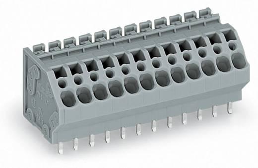 Federkraftklemmblock 4.00 mm² Polzahl 4 WAGO Grau 120 St.