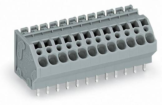 Federkraftklemmblock 4.00 mm² Polzahl 6 WAGO Grau 80 St.