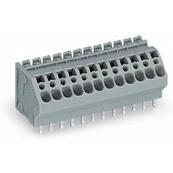 Pružinová svorkovnice WAGO 745-108, 4.00 mm², Pólů 8, šedá, 60 ks