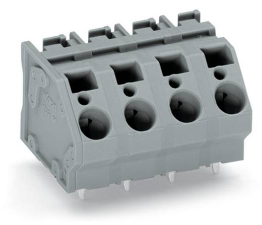 Federkraftklemmblock 6.00 mm² Polzahl 10 WAGO Grau 16 St.