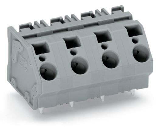 Federkraftklemmblock 6.00 mm² Polzahl 9 WAGO Grau 16 St.