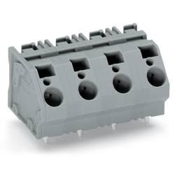 Pružinová svorka WAGO 745-1405, 6.00 mm², Počet pinov 5, sivá, 32 ks