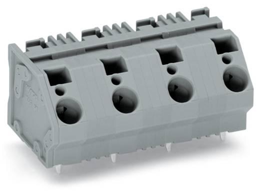 Federkraftklemmblock 6.00 mm² Polzahl 4 745-1454 WAGO Grau 32 St.