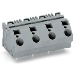 Pružinová svorka WAGO 745-1454, 6.00 mm², Počet pinov 4, sivá, 32 ks