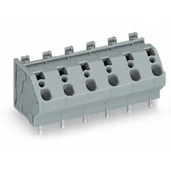 Pružinová svorkovnice WAGO 745-208, 4.00 mm², Pólů 8, šedá, 30 ks