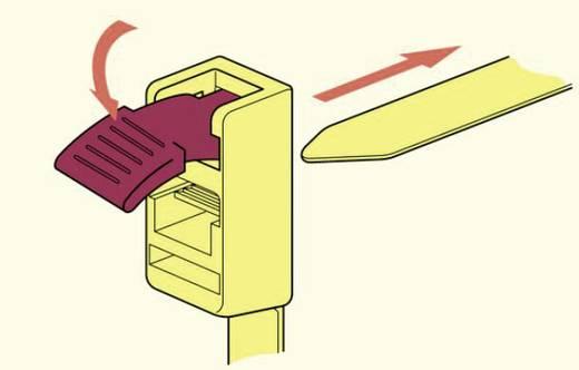 HellermannTyton 115-00001 SPEEDYTIE-PA66-YE-V1 Kabelbinder 750 mm Gelb, Rot Lösbar, mit Rückschlauföse, mit Schnellversc