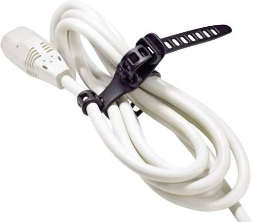 Kabelbinder 260 mm Schwarz Lösbar, Hitzestabilisiert, UV-stabilisiert, Sehr flexibel, mit Rückschlauföse HellermannTyton 115-11270 SOFTFIX-M-TPU-BK-Y 8 St.