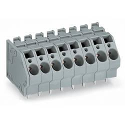 Pružinová svorka WAGO 745-308, 6.00 mm², Počet pinov 8, sivá, 32 ks