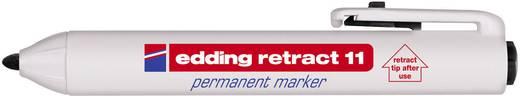 Permanent-Marker Edding RETRACT 11 Schwarz Rundform 1.5 - 3 mm 1 St.