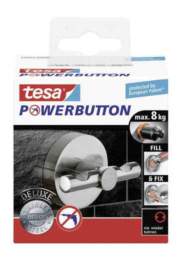 tesa® Powerbutton Deluxe (Ø x T) 49 mm x 36 mm 59343 tesa Inhalt: 1 St.