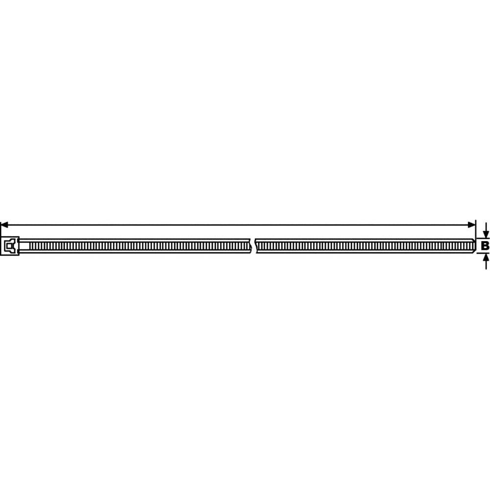 Kabelbinder 196 mm Grün Lösbar, Hitzestabilisiert HellermannTyton ...