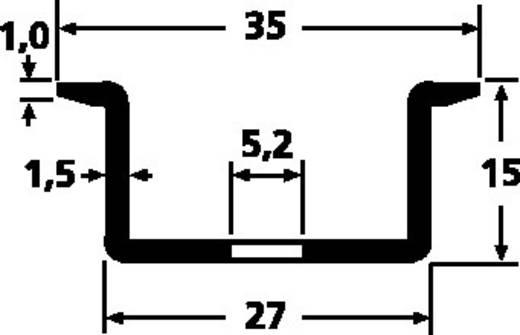 Hutschiene gelocht Stahlblech 2000 mm HellermannTyton DELTA3AF-ST-GEL-WC 1 St.