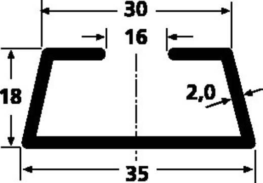 Hutschiene gelocht Stahlblech 2000 mm HellermannTyton DELTA-6/BV 1 St.